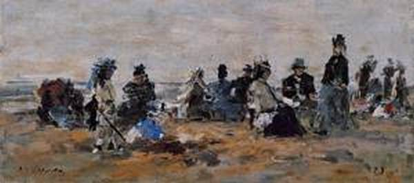 Beach Scene at Trouville Evening 1875